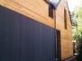 Elewacje drewniane - Elewacja, taras, zabudowa bramy modrzew syberyjski