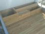Tarasy drewniane - taras Modrzew syberyjski z donicami